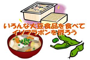 イソフラボンは大豆食品を食べていれば問題なく摂取できます