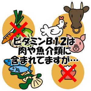 ビタミンB12を含む食品|ほとんど肉や魚介類にしかない