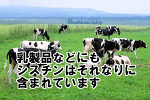 乳製品・飲料・調味料にもシスチンは割りと含まれています