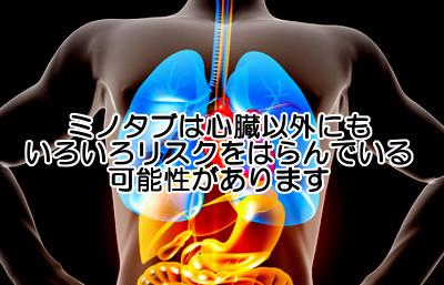 ミノキシジルタブレットで起こりうる臓器への副作用(FDA報告)
