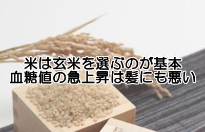 玄米は育毛対策に不可欠といえる食品|血糖値に気をつけましょう