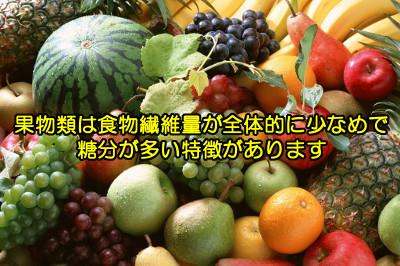 果物に含まれる食物繊維量の一覧表|全体的に少ないのが特徴
