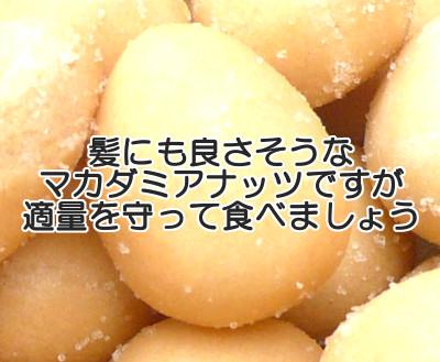 マカダミアナッツは食べやすく良質な不飽和脂肪酸も豊富なので育毛的にも良さそうですが食べ過ぎは当然よくありません