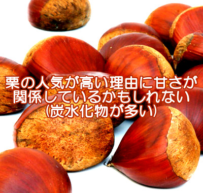 栗は人気が高いナッツですが炭水化物を多く含むので食べ過ぎは育毛の妨げになる可能性があります