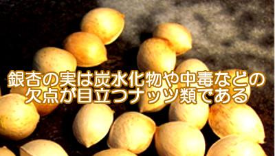 銀杏の実は中毒などの欠点が目立つので育毛にはあまり適さない?